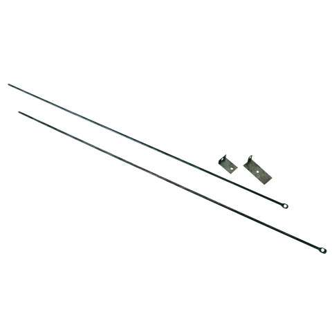 "Fireplace Curtain Rod Kit - 32"" To 58"" Long"