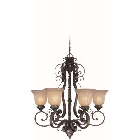 Craftmade Exteriors Lagrange - Seville Iron 6 Light Chandelier in Seville Iron