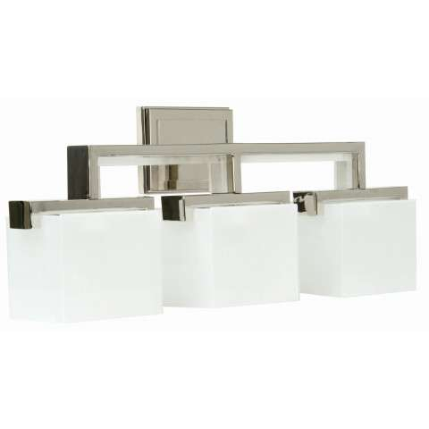 Craftmade Exteriors Kade - Polished Nickel 3 Light Vanity Fixture in Polished Nickel