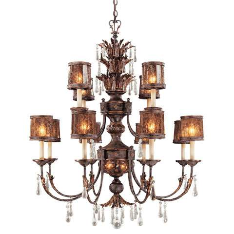 Metropolitan N6079-194 Fourteen Light Chandelier in Sanguesa Patina™ finish with Vidrio Artistico Glass