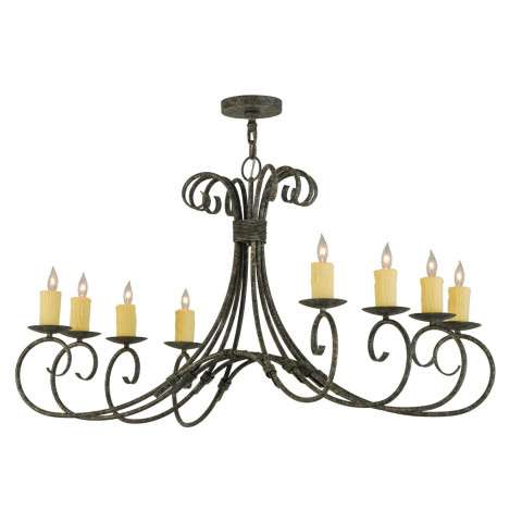 "48"" L Elon 8 Lt Oblong Chandelier. Custom Crafted In Yorkville - New York Please Allow 30 Days"