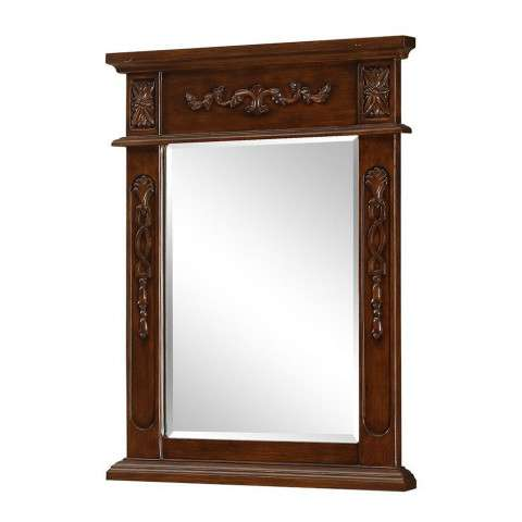 "Vanity Mirror 22"" x 28"" Brown"