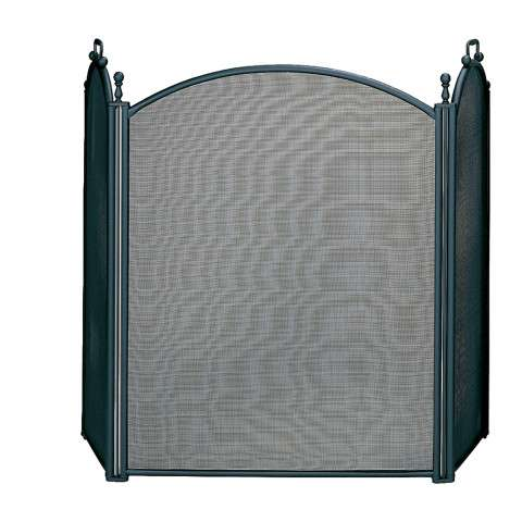 "3 Fold Large Diameter Black Screen With Woven Mesh - 54"" Wide x 34"" Tall"