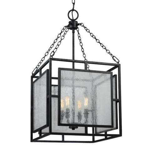 Prairielands 4 - Light Pendant in Dark Weathered Zinc