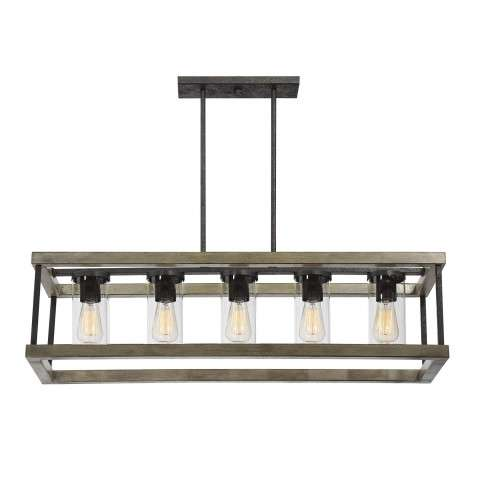 Eden 5 Light Outdoor Chandelier in Weathervane
