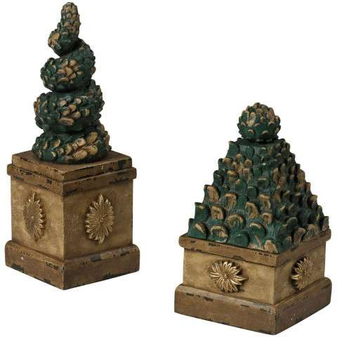 Box - Set Of 2 Topiary Tree Boxes - Composite