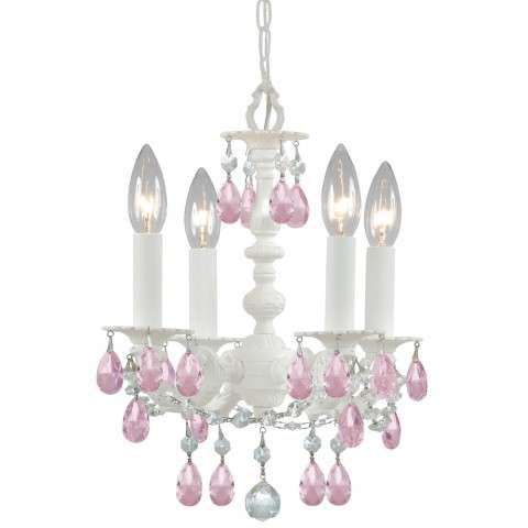 Crystorama 5514-WW-RO-MWP Paris Flea Market Wall Sconce - Wet White finish - Adorned with Crystal accents