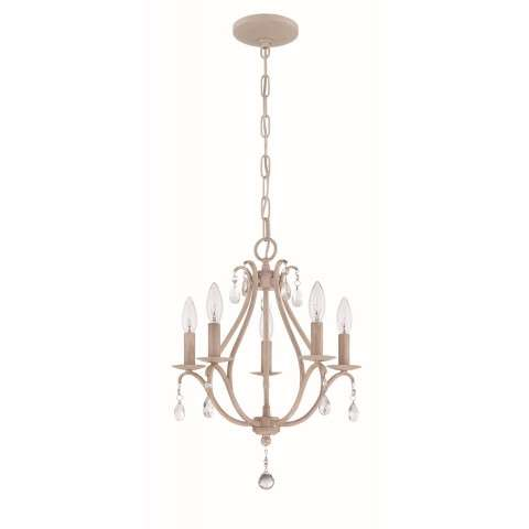 5 Light Mini Chandelier in Antique Linen