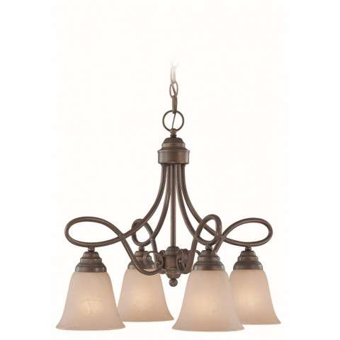 Craftmade Exteriors Cordova - Old Bronze 4 Light Chandelier in Old Bronze
