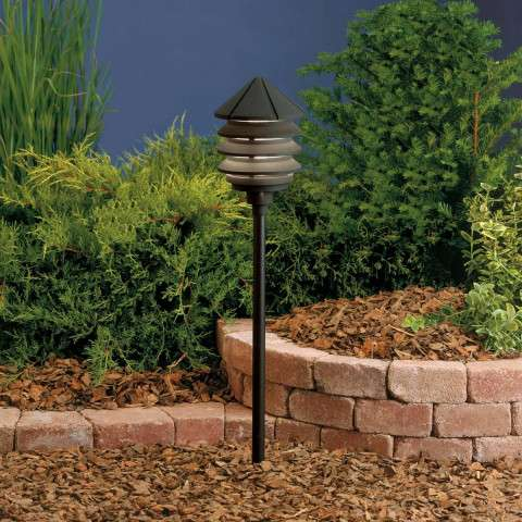Kichler 15005BKT Path & Spread 1-Lt 12V in Textured Black.
