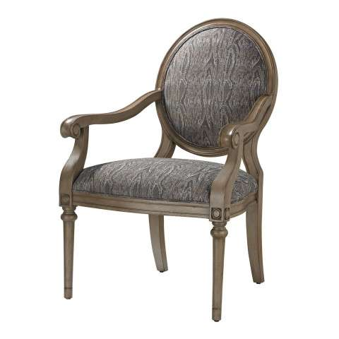 Chair - Luxe Accent Chair In Grey - Wood and Foam and Fabric