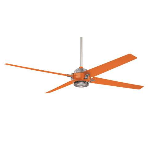 Minka Aire Spectre Ceiling Fan Model F726-BN/ORG in Orange with Brushed Nickel