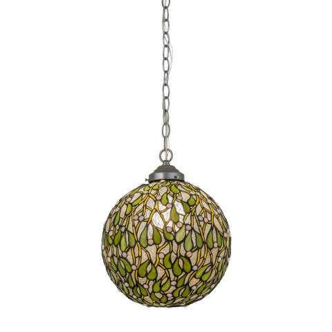 "12""W Mistletoe Ball Pendant"