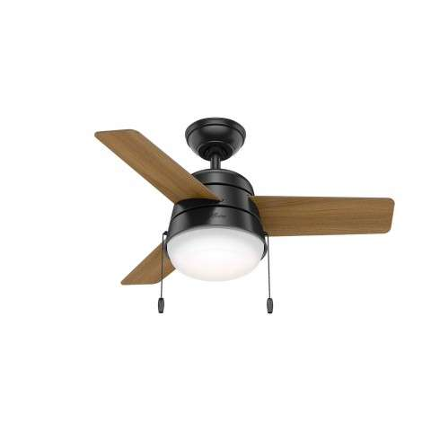 Hunter Aker Ceiling Fan Model 59302 - Shown with American Walnut Blades