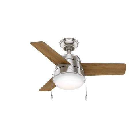 Hunter Aker Ceiling Fan Model 59303 - Shown with American Walnut Blades