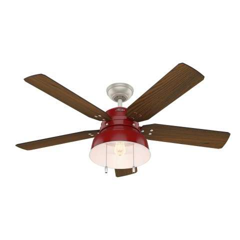 Hunter Mill Valley Ceiling Fan Model 59309 - Shown with Medium Walnut Blades