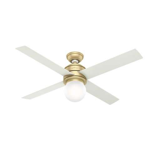 Hunter Hepburn Ceiling Fan Model 59320 - Shown with White Grain Blades