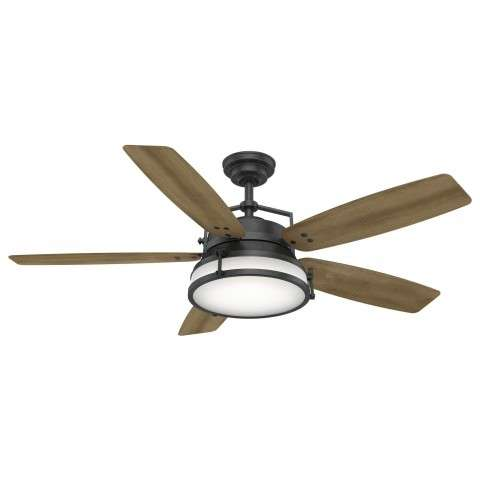 Casablanca Caneel Bay Ceiling Fan Model CA-59359 in Aged Steel