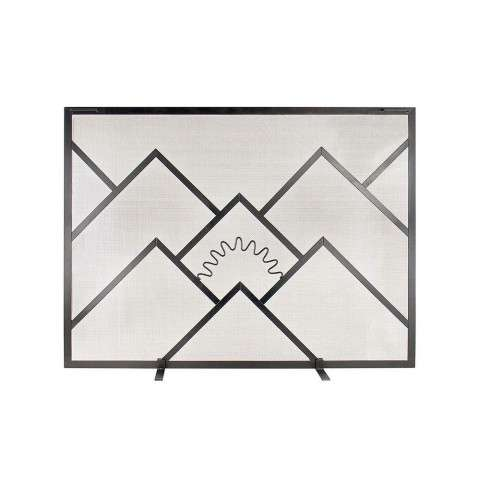 "Sunrise Fireplace Screen Lg - PC - Black - 44"" Wide x 33"" Tall"