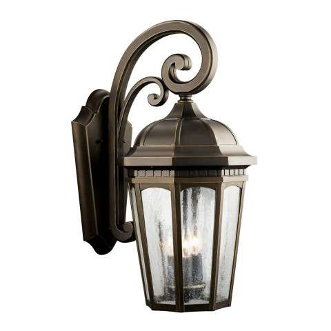 Kichler 9034RZ Outdoor Wall 3Lt in Rubbed Bronze.