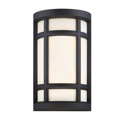 Logan Square Wall Sconce in Black