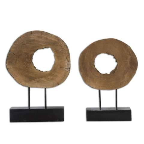 Uttermost Ashlea Wooden Sculptures S/2
