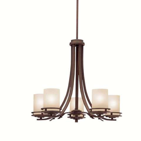 Kichler 1672OZ Chandelier 5Lt in Olde Bronze.