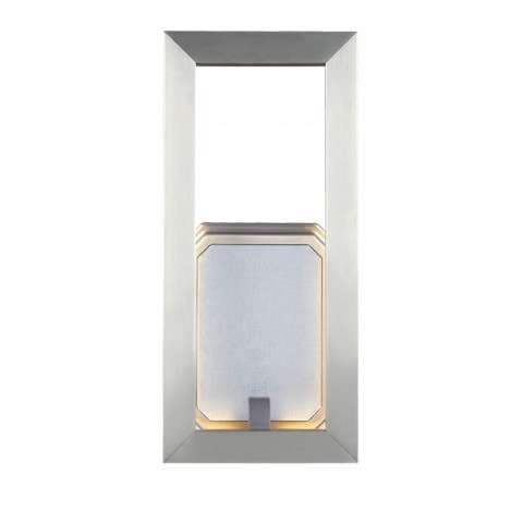 """Khloe 12"""" LED Wall Sconce in Satin Nickel"""