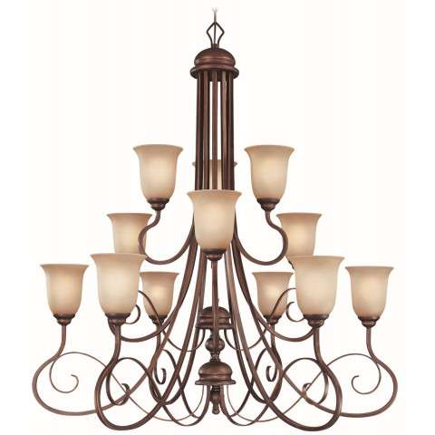 Craftmade Exteriors Preston Place - Augustine 12 Light Chandelier in Augustine