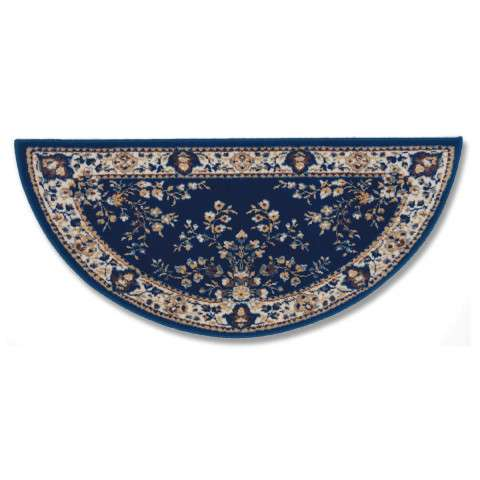 Oriental Hearth Rug - Large Half Round - Blue
