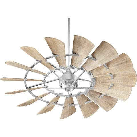 Quorum Windmill Ceiling Fan Model 96015-9 in Galvanized