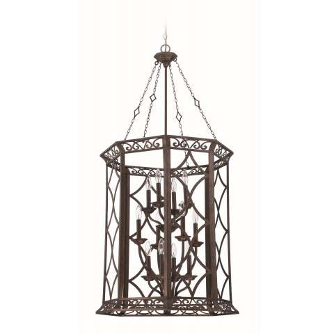 Jeremiah Indoor Lighting 12 Light Foyer In Peruvian Bronze