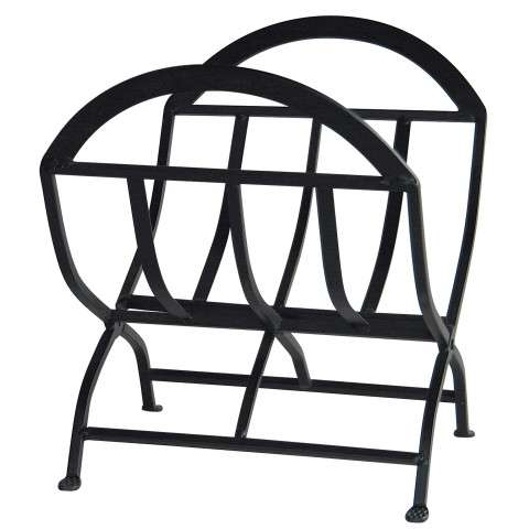 Uniflame W-1038 Black Wrought Iron Log Rack