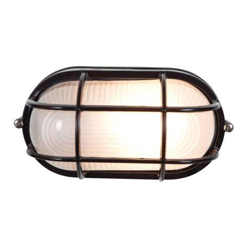 Access Lighting 20292-BL/FST Nauticus Wet Location Bulkhead in Black finish with Frosted glass