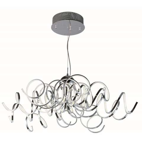 Chaos LED Pendant in Polished Chrome