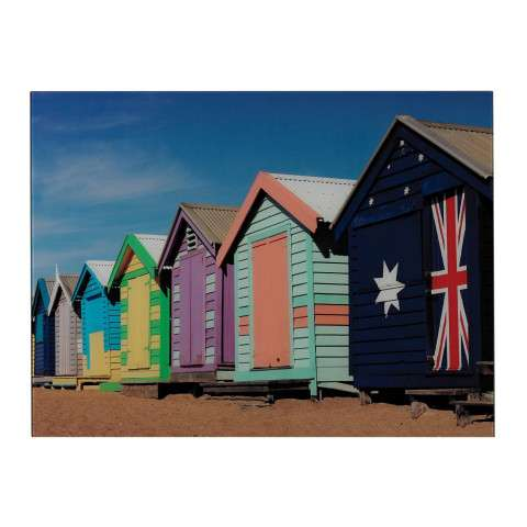 Wall Art - Beach Hut-Beach Hut Image Printed On Glass - Glass