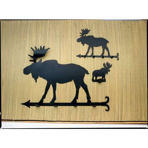 Meyda Tiffany 23381 Moose Coat Rack in Black finish