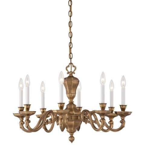 Metropolitan N1115-046 Eight Light Chandelier in Vintage English Patina finish