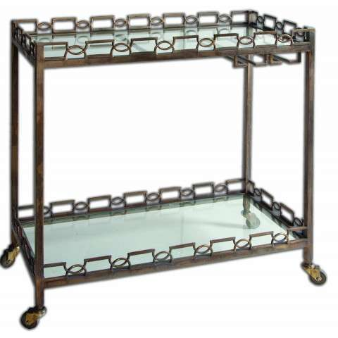 Uttermost Nicoline Iron Serving Cart
