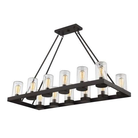 Inman 12 Light Outdoor Chandelier in English Bronze