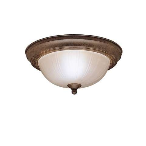 Kichler 8653TZ Flush Mt 2Lt in Tannery Bronze.