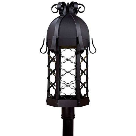 Minka Lavery Lighting 9246-1-66-PL 1 Light Post Mount in Black finish; ENERGYSTAR Compliant Fixture; Complies with California Title 24