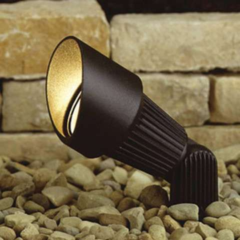Kichler 15309AZT12 Accent 1-Lt 12V in Textured Architectural Bronze.