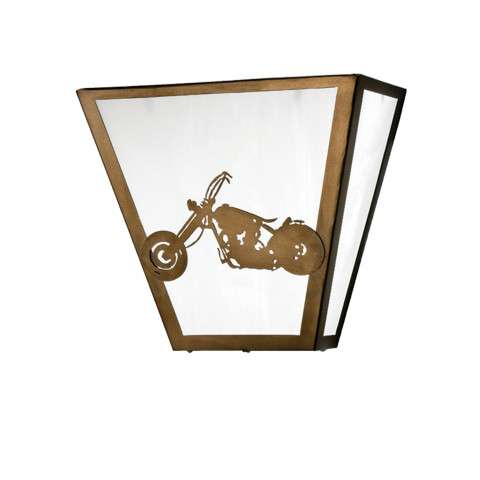 Meyda Tiffany 23913 Motorcycle Wall Sconce in Antique Copper finish