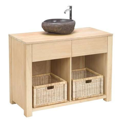 Cabinet - Elegance Basin Cabinet - Big - Teak Wood and Mango Wood and Teak Veener