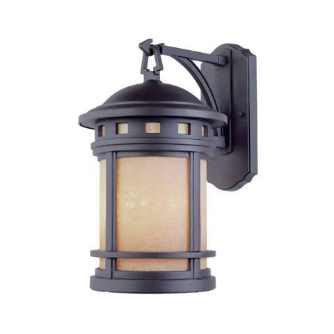 """Designers Fountain 2381-AM-ORB Sedona 9"""" Wall Lantern in Oil Rubbed Bronze finish with Amber glass"""