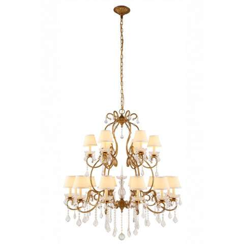 "Urban Classic - 1471 Diana Collection Chandelier D:39"" H:47"" Lt:18 Golden Iron Finish"
