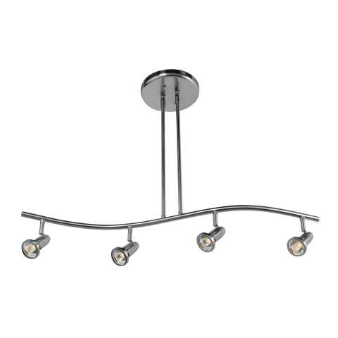 Access Lighting 52206-BS Cobra Spotlight Pendant in Brushed Steel finish