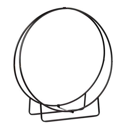"Wrought Iron Wood Hoop - 48""H KD - PC - Black"