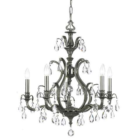 Crystorama 5565-PW-CL-S Swarovski Elements Chandelier